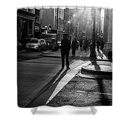 Shower Curtain featuring the photograph Philadelphia Street Photography - 0943 by David Sutton