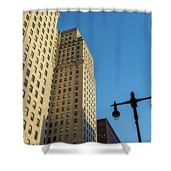 Shower Curtain featuring the photograph Philadelphia Urban Landscape - 0948 by David Sutton