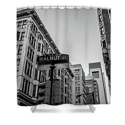 Shower Curtain featuring the photograph Philadelphia Urban Landscape - 0980 by David Sutton