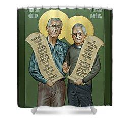 Philip And Daniel Berrigan Shower Curtain