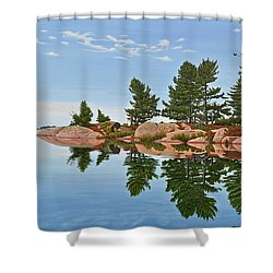 Shower Curtain featuring the painting Philip Edward Island by Kenneth M Kirsch
