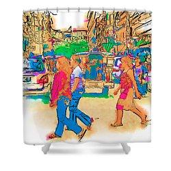 Philippine Girls Crossing Street Shower Curtain