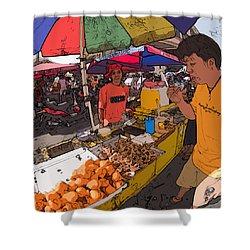 Philippines 1299 Street Food Shower Curtain