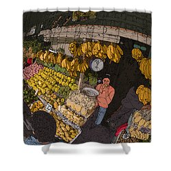 Philippines 3575 Saging Sales Lady Shower Curtain