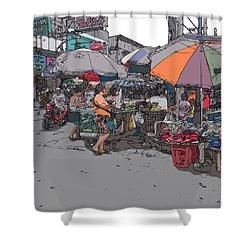 Philippines 708 Market Shower Curtain