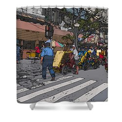 Philippines 906 Crosswalk Shower Curtain