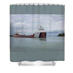 Phillip R. Clarke Freighter Shower Curtain