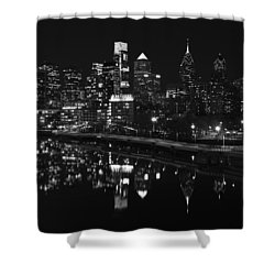 Philly And The Schuylkill Bw Shower Curtain