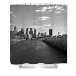 Philly B/w Shower Curtain by Jennifer Ancker