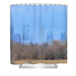 Philly From Afar Shower Curtain