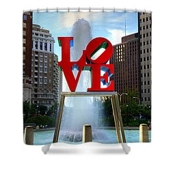 Philly Love Shower Curtain by Paul Ward