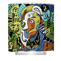 Shower Curtain featuring the digital art Philosopher by Sotuland Art