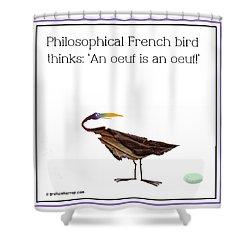 Philosophical Bird Shower Curtain