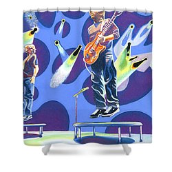 Phish Tramps Shower Curtain by Joshua Morton