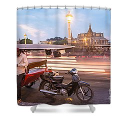 Phnom Penh Tuk Tuk Shower Curtain
