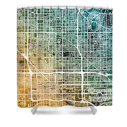 Phoenix Arizona City Map Shower Curtain