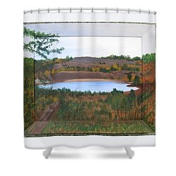 Phoenix Lake Shower Curtain