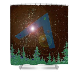 Shower Curtain featuring the painting Phoenix Lights Ufo by James Williamson
