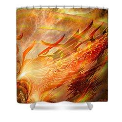 Phoenix Shower Curtain by Michael Durst
