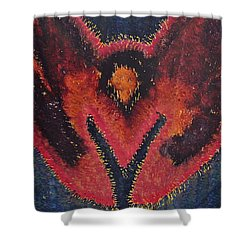 Phoenix Rising Original Painting Shower Curtain