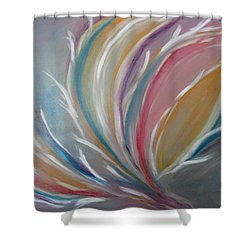 Shower Curtain featuring the painting Phoenix Rising by Sharyn Winters