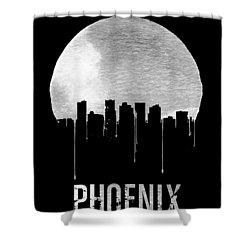 Phoenix Skyline Black Shower Curtain by Naxart Studio