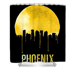 Phoenix Skyline Yellow Shower Curtain by Naxart Studio