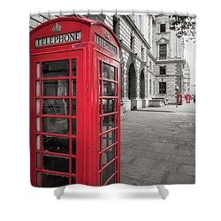 Phone Booths In London Shower Curtain