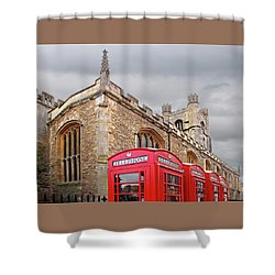 Shower Curtain featuring the photograph Phone Home - Gt St Marys Church Cambridge by Gill Billington