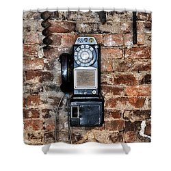 Pay Phone  Shower Curtain