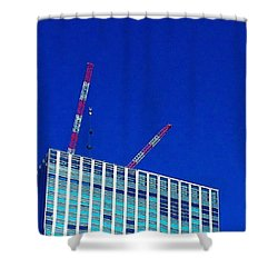 Photogragh Of Building And The Sky Shower Curtain
