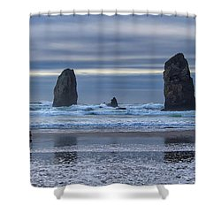 Photographer At Cannon Beach Shower Curtain by David Gn