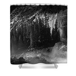 Photographer At Vernal Falls Shower Curtain