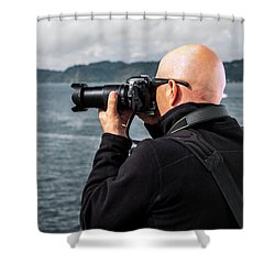 Photographer At Work Shower Curtain