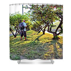 Shower Curtain featuring the photograph Photographer by Brian Wallace