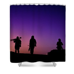 Photographers At Sunset Shower Curtain