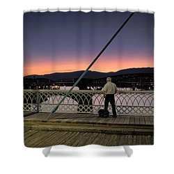 Photographing The Sunset Shower Curtain