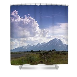Photographing The Tetons Shower Curtain