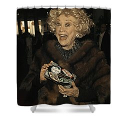 Phyllis Diller Shower Curtain by Nina Prommer
