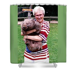 Phyllis Holding Thirty Lb Wombat Australia Shower Curtain