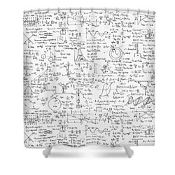 Physics Forms Shower Curtain by Gina Dsgn