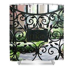 Pi Kappa Phi Gate Shower Curtain by Ed Waldrop