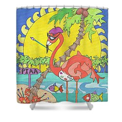 Pia The Flamboyant Flamingo Shower Curtain