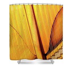 Piano 3 Shower Curtain by Rebecca Cozart
