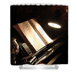 Piano Bar Shower Curtain by Lauri Novak
