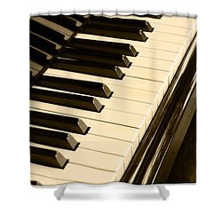 Piano Shower Curtain by Charuhas Images