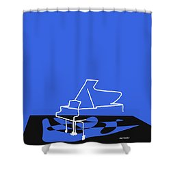 Piano In Blue Shower Curtain