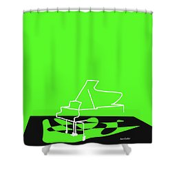 Piano In Green Shower Curtain