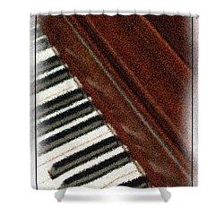 Piano Keys Shower Curtain by Carolyn Marshall