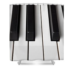 Piano Keys Close Up Shower Curtain by Garry Gay